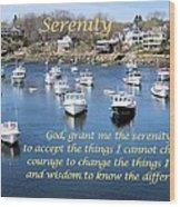Perkins Cove Serenity Wood Print