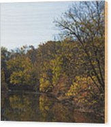 Perkiomen Creek In Autumn Wood Print