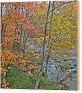 Perkiomen Creek - Perkiomenville Pa - Autumn Foliage Wood Print