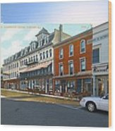Perry House At Washington Square In Newport Rhode Island Wood Print