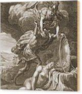 Perseus Cuts Off Medusas Head, 1731 Wood Print