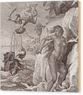 Perseus Delivers Andromeda From The Sea Monster Wood Print
