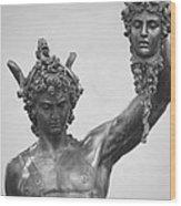 Perseus With Head Of Medusa Wood Print