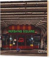 Pershing Square Cafe Wood Print