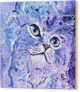 Persian Blue Wood Print