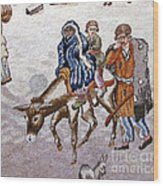 persian lady on horse with her baby              Close up photos by myself of Persian antique carpet Wood Print