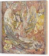 Persian Lady Playing Chang Wood Print