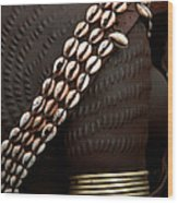 Person Showing Cowry Shell Detail Wood Print