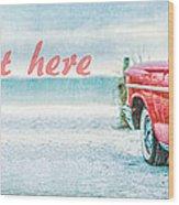 Free Personalized Custom Beach Art Wood Print