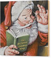 Personalized Santa Painting....instructions Are On Lower Right Side Of This Page. Wood Print