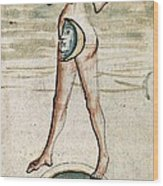 Personification Of Luna, 15th Century Wood Print