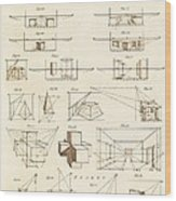 Perspective And Scenographic Diagrams. Wood Print