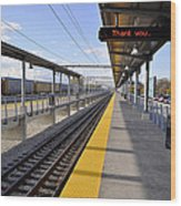 Perspective From The Series The Elements And Principles Of Art-- One Point Rail Wood Print