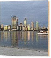 Perth By Sunset  Wood Print