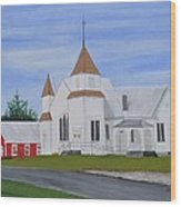 Peru Congregational Church Wood Print