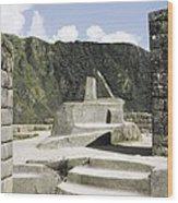 Peru. Cuzco. Machu Picchu. Incaic Wood Print