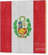 Peru Flag Wood Print