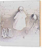 Peru Nazca Bones Two Wood Print
