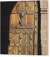 Peruvian Door Decor 17 Wood Print