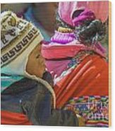 Peruvian Woman With Baby Wood Print