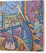 Pescador De Ilusoes  - Fisherman Of Illusions Wood Print