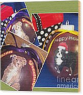 Pet Christmas Tree Ornaments Wood Print