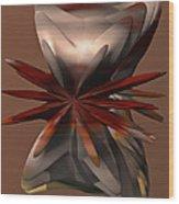 Petals And Stone Wood Print