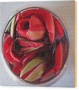 Petals In Vase  Wood Print