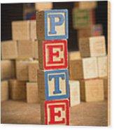 Pete - Alphabet Blocks Wood Print