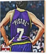 Pete Maravich Wood Print