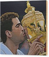 Pete Sampras Wood Print by Paul Meijering