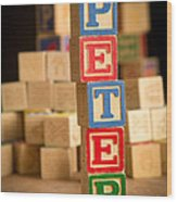 Peter - Alphabet Blocks Wood Print