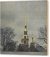 Peter And Paul Fortress Wood Print by Elena Nosyreva