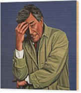Peter Falk As Columbo Wood Print by Paul Meijering