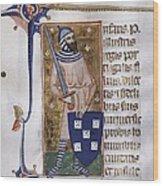 Peter I, Count Of Urgell 1187 - 1255 Wood Print