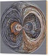 Peter Iredale Orb W Wood Print