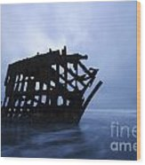 Peter Iredale Shipwreck Oregon 3 Wood Print