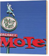 Peter Pan Motel Wood Print