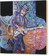 Peter Parcek Plays The Blues Wood Print