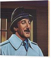 Peter Sellers As Inspector Clouseau  Wood Print
