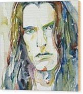 Peter Steele Portrait.4 Wood Print