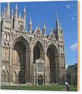 Peterborough Cathedral Wood Print