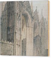 Peterborough Cathedral Wood Print