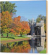 Peterborough Lift Lock Wood Print by Charline Xia