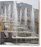 Peterhof Palace Fountains Wood Print