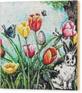 Peters Easter Garden Wood Print by Shana Rowe Jackson