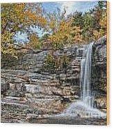 Peterskill Falls Wood Print
