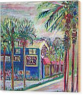 Pete's Bar In Neptune Beach Wood Print