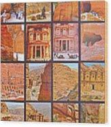 Petra Alive In Petra Jordan Wood Print