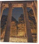 Petra Inside The Temple Wood Print